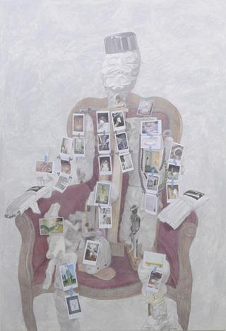 千葉正也『犬のように歩き回った偉大な男』2009年 白木聡氏・鎌田道世氏蔵 ©Chiba Masaya Courtesy of ShugoArts