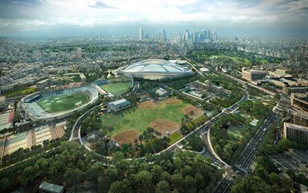 『新国立競技場』東京 2012- © Zaha Hadid Architects