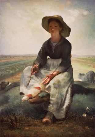 ジャン=フランソワ・ミレー『羊飼いの娘』1870 -73年頃 Gift of Samuel Dennis Warren 77.249 Photograph ©2014 Museum of Fine Arts, Boston
