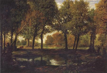 テオドール・ルソー『森の中の池』1850年代初期、油彩・カンヴァス Robert Dawson Evans Collection 17.3241