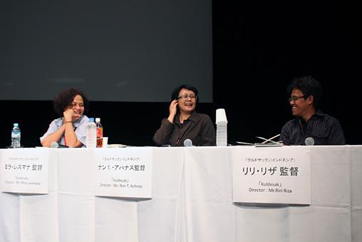 『アジアフォーカス・福岡国際映画祭』シンポジウム「インドネシア・ニューシネマの夜明け『クルドサック』をめぐって」の様子