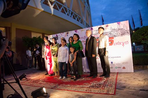 『カンボジア日本映画祭』オープニングレセプションの様子