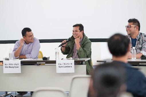『東南アジアから世界へ―映画づくりの現在』トークセッションの様子 ©halken