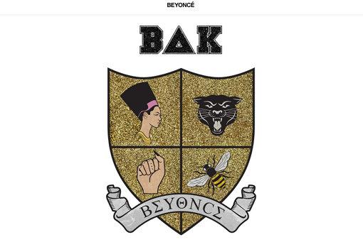 Beyonceの衣装に描かれた紋章は4つのモチーフで構成されている