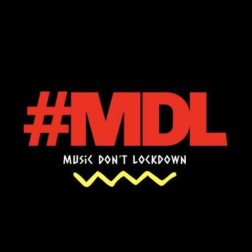 「MUSIC DON'T LOCKDOWN」ロゴ / サイトには各々の配信用に、ロゴのダウンロード、配信プラットフォームの一覧、配信手ほどきが掲載されている