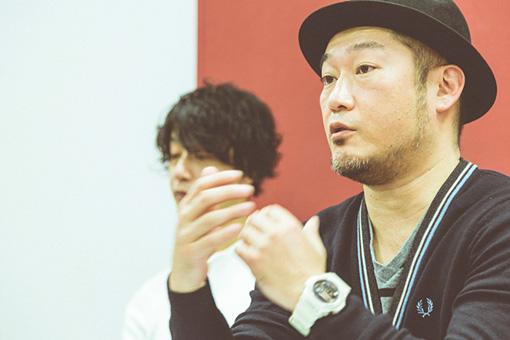 左奥:田中和将、右:亀井亨