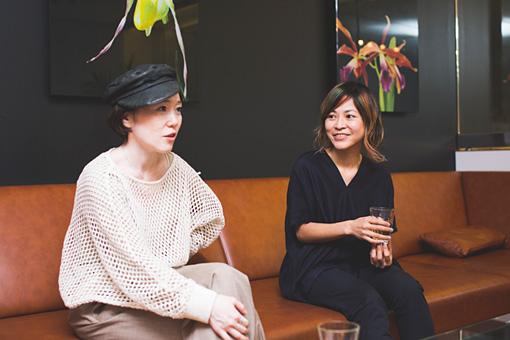 左から:中納良恵、原田郁子