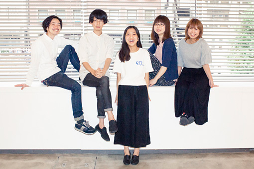 左から:リーダー、HAPPY、椎名杏子、林絵里、柴由佳子
