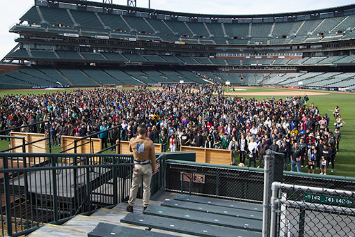 2015年にサンフランシスコ・AT&Tパークで開催された『リアル脱出ゲーム』