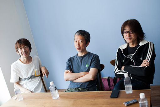 左から:益子樹、原田仁、勝井祐二