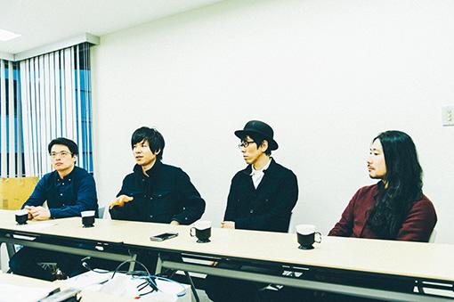 左から:勝浦隆嗣、出戸学、馬渕啓、清水隆史
