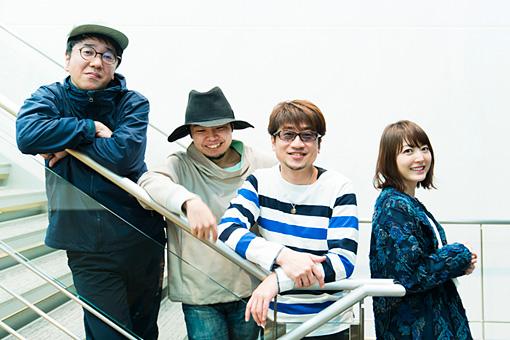 左から:藤枝憲、kz(livetune)、北川勝利、花澤香菜