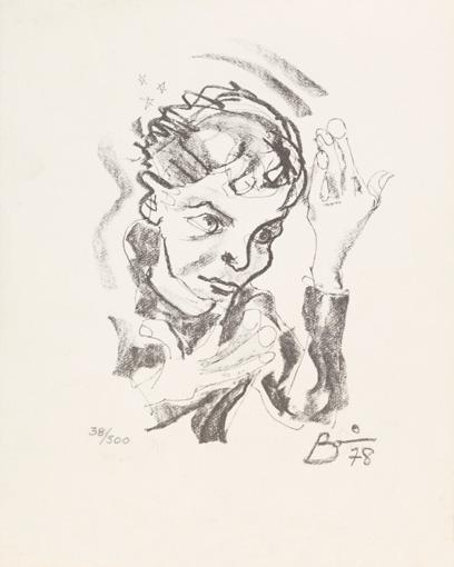 1978年に描かれたデヴィッド・ボウイの自画像 / Courtesy of The David Bowie Archive , Image ©Victoria and Albert Museum