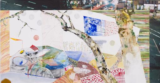 写真と絵を組み合わせた前田エマの作品