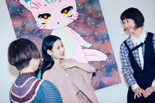 左から:maegamimami、前田エマ、たなかちえこ
