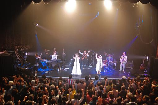 上々颱風。2009年12月9日、東京キネマ倶楽部にて(撮影:船橋岳大)