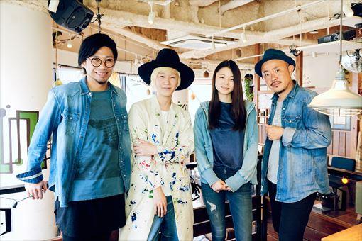 左から:吉田結威(吉田山田)、山田義孝(吉田山田)、片平里菜、高橋マシ