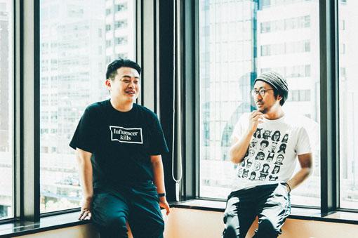 左から:岡田一男、家入一真