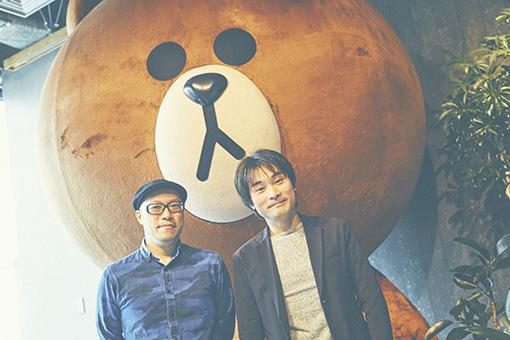 左から:田中大輔(LINE RECORDS)、柴那典