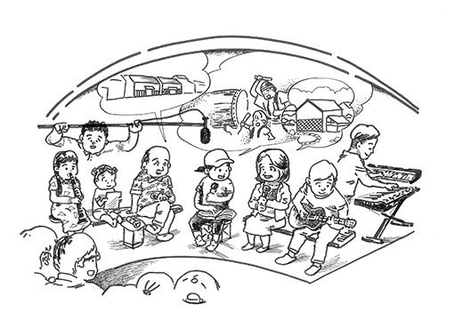 「千住タウンレーベル」ビジュアル イラスト:宮田篤