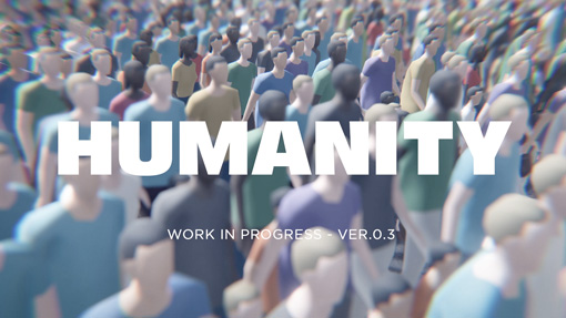 """Crowd action game """"HUMANITY"""" is coming in 2018. Designed & developped by tha ltd."""