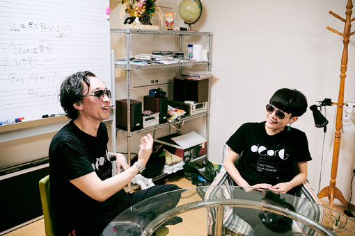 左から:Boss the NK a.k.a. 菊地成孔、OD a.k.a. 小田朋美