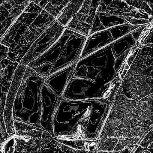 『YouFab 2020』準グランプリ:『Cartes des Silences - Paris habituelle / confinée』 Clémence Althabegoïty / パリ市街で静かな場所を見つけるため、パリ市街の環境音を可視化したもの。一連の動く地図は、パリ市街および郊外の様々な場所の音のレベルを表示しており、2020年のパンデミックによる最初の都市封鎖時の前後の音のレベルを比較している
