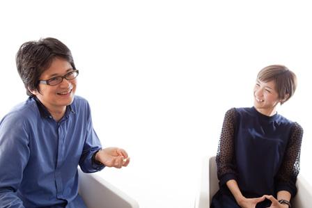 左から:穂村弘、ハルカ(ハルカトミユキ)