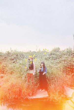 左から:マヒトゥ・ザ・ピーポー、青葉市子 撮影:木村和平