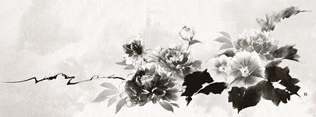 """水墨画家・與座巧による、""""OVERCOME""""を表現した作品"""