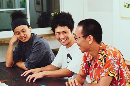 左から:織田洋介、武徹太郎、ハブヒロシ