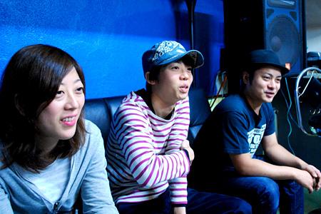 左からさとうかおり、松井省悟、森勇太