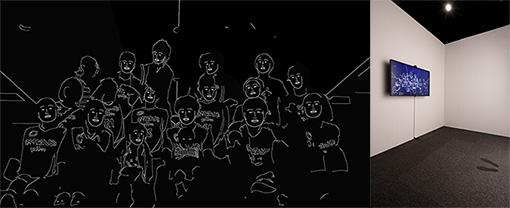 『MEC Award 2017』入選作品『みなさんといっしょ』早川翔人 2016年 / インタラクティブ映像