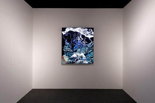 MEC Award 大賞作品『Time on canvas』大柿鈴子 2016年 / 映像インスタレーション