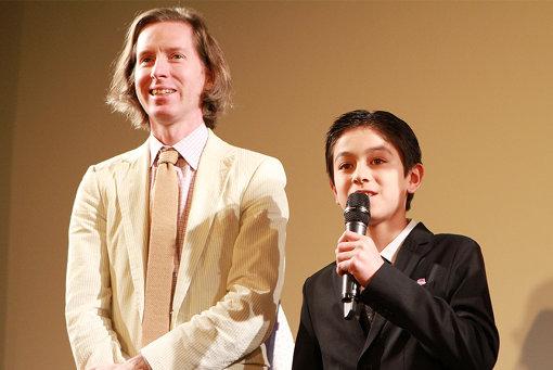 左から:ウェス・アンダーソン監督、コーユー・ランキン