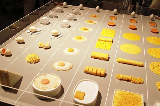 調理された卵の変化を観察する『たまごの変身』