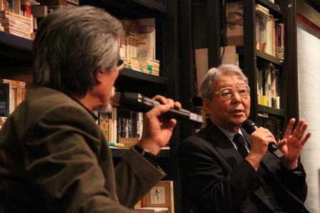 左から:松岡正剛、佐治晴夫